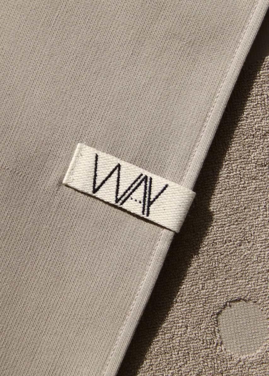 Grey WAY Beach towel with hook detail