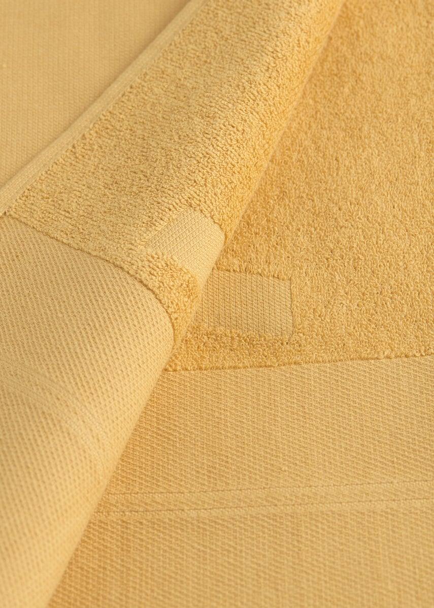 Yellow WAY beach towel close-up terry cotton detail